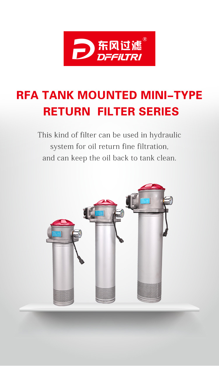RFA TANK MOUNTED MINI-TYPE RETURN FILTER SERIES